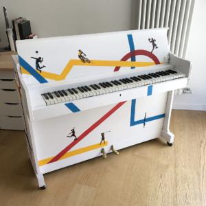 Pianoforte dipinto per il Festival dello Sport di Trento